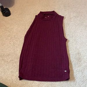 American Eagle Outfitters burgundy halter tank